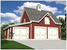 Free Three Car Barn Style Garage Plans Use The Loft As Your